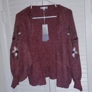 SOLITAIRE VINTAGE OPEN CARDIGAN SWEATER